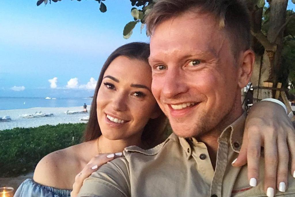 Jakub Wesołowski z żoną