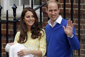 Księżna Kate i książę William z córką