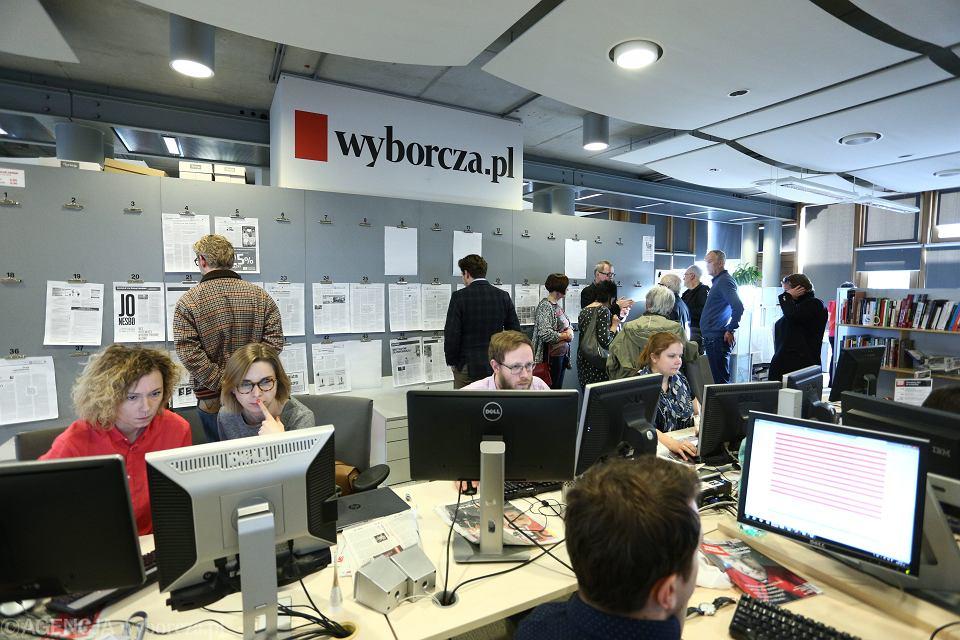 Dziennikarze podczas pracy - newsroom 'Wyborcza.pl'
