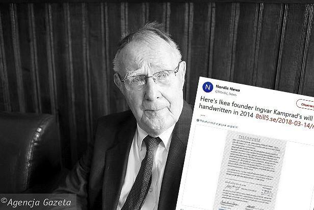 Ingvar Kamprad, założyciel firmy Ikea