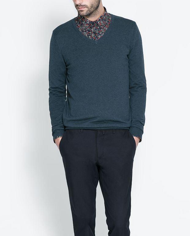 Sweter z kolekcji Zara. Cena: 199 zł, moda męska, swetry, zara