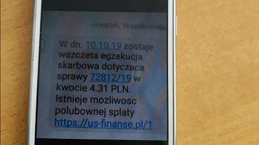 Fałszywe wiadomości podszywające się pod Izbę Administracji Skarbowej