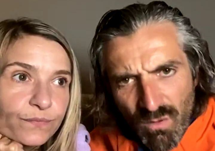 Domówka u Dowborów: gośćmi Małgorzata i Radosław Majdanowie. Na zdjęciu Joanna Kroniewska i Maciej Dowbor