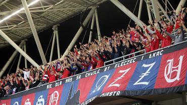 Mecz trzeciej rundy eliminacji Ligi Konferencji Raków Częstochowa - Rubin Kazań. Stadion w Bielsku-Białej, 5 sierpnia 2021 r.