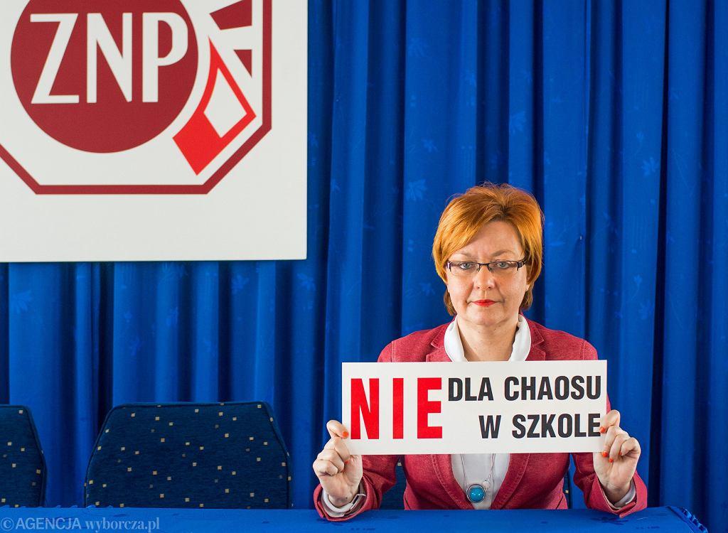 Mirosława Kaczyńska, przewodnicząca ZNP w Bydgoszczy.