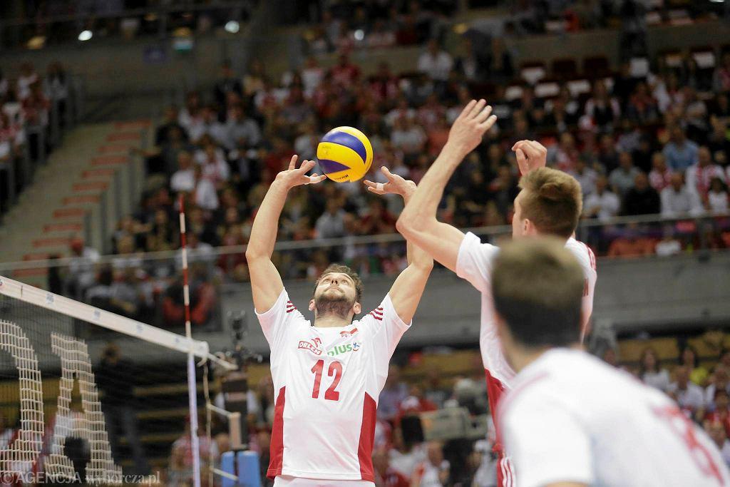 Liga Światowa. Polska - Rosja 3:0. Grzegorz Łomacz i Mateusz Bieniek