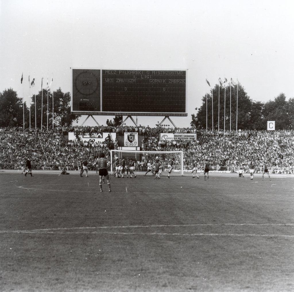 Mecz Zawisz - Górnik z 1977 roku