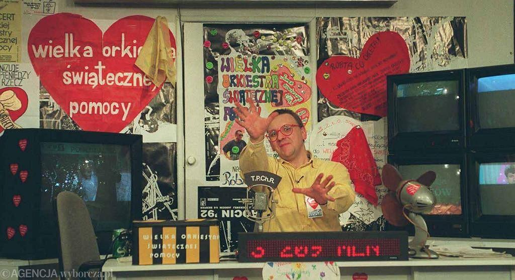 Jerzy Owsiak, finał WOŚP w 1993 r.