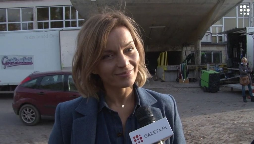 Małgorzata Foremniak na planie filmu