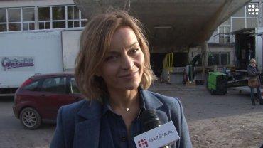 """Małgorzata Foremniak na planie filmu """"Sługi boże"""""""