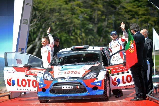 Robert Kubica i Maciej Szczepaniak. Oficjalny start Rajdu Portugalii w Estoril