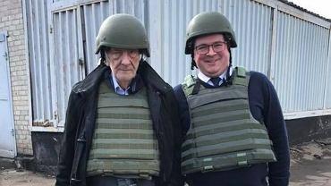 Polska delegacja na Ukrainie. Wicemarszałek Sejmu Ryszard Terlecki i Tomasz Rzymkowski z Kukiz'15