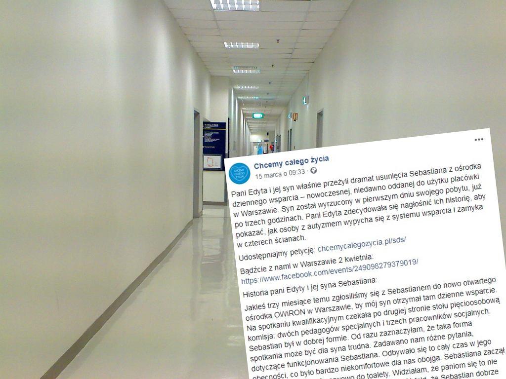 Chłopak z autyzmem został wyrzucony z warszawskiego ośrodka