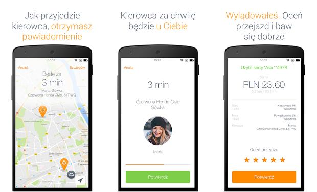 Sqter - aplikacja na Androida dla pasażera