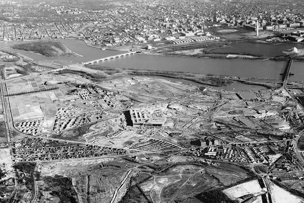 Pentagon podczas budowy