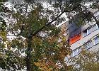 Wrocław. Pożar w bloku, ewakuowano ok. 100 osób. Nie żyje jedna osoba