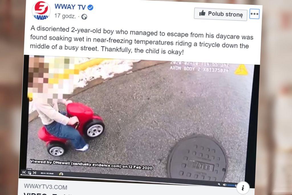 Dziecko uciekło ze żłobka. Opiekun aresztowany