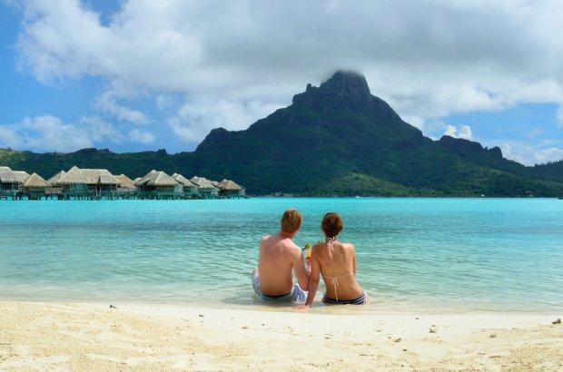 Widok na powulkaniczny stożek na Bora Bora/ Fot. Shutterstock