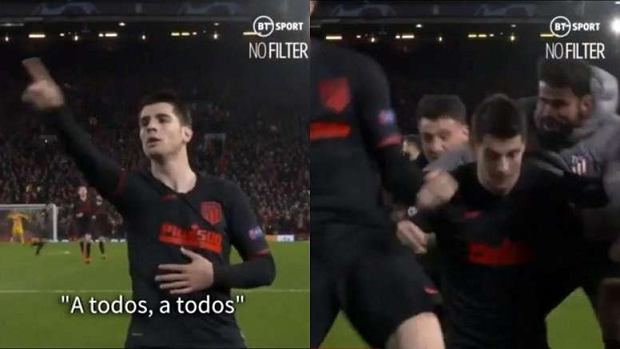 Alvaro Morata przeprosił kibiców Atletico po strzeleniu gola Liverpoolowi [WIDEO]