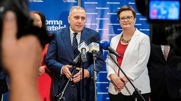 Rzeszów, 23 lipca 2018. Katarzyna Lubnauer i Grzegorz Schetyna