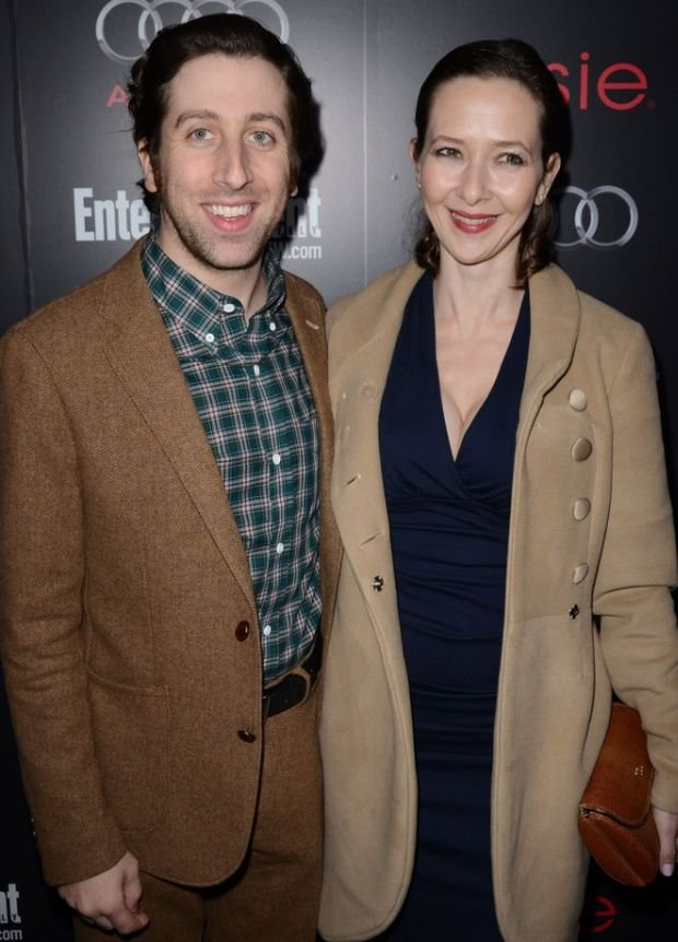 Los Angeles, CA - JANUARY 26: Simon Helberg, Kim Jocelyn Towne attending The Entertainment Weekly Pre-SAG Party Hosted By Essie and Audi held at Chateau Marmont on January 26, 2013 in Los Angeles, California. (Photo by Wise/PictureGroup)