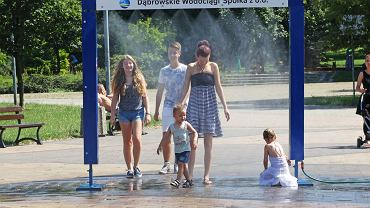 Kurtyna wodna - Park Hallera
