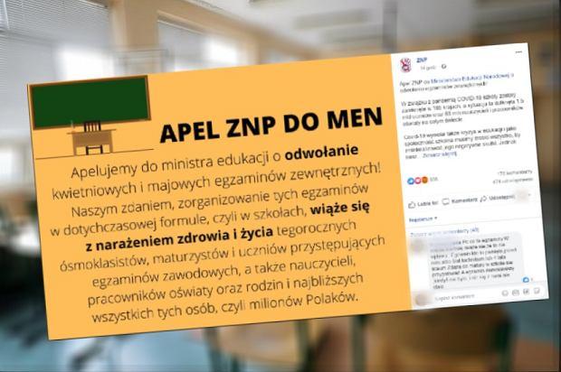 """ZNP apeluje o odwołanie egzaminu ósmoklasisty i matury. Szef """"Solidarności"""" proponuje """"konkurs świadectw"""""""