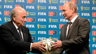 Sepp Blatter i Władimir Putin