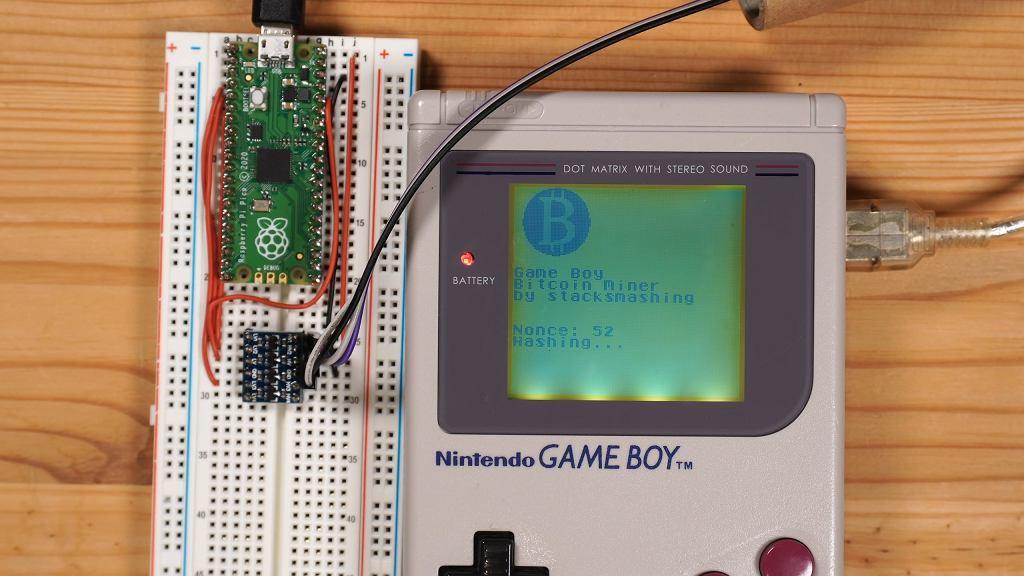 Game Boy przerobiony na koparkę Bitcoinów