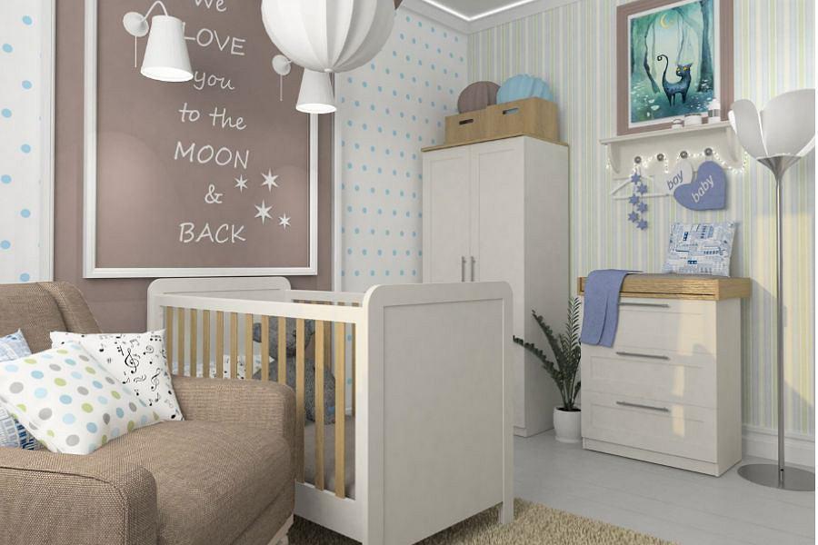 Pokój dla niemowlęcia - kolor ścian, oświetlenie i podłoga