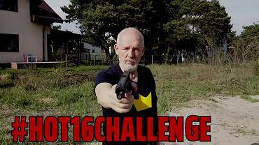 Janusz Korwin-Mikke rapował o 'wieszaniu socjalistów zamiast liści' w ramach #hot16challenge2.