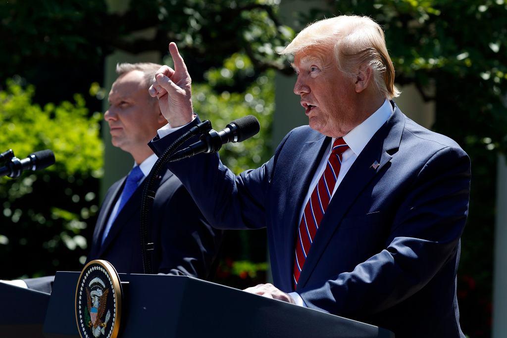 Konferencja po rozmowach Andrzeja Dudy i Donalda Trumpa