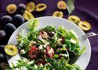 Grillowane śliwki z gorgonzolą, chili i syropem klonowym