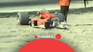 Bolid Jochena Rindta po wypadku na torze Monza