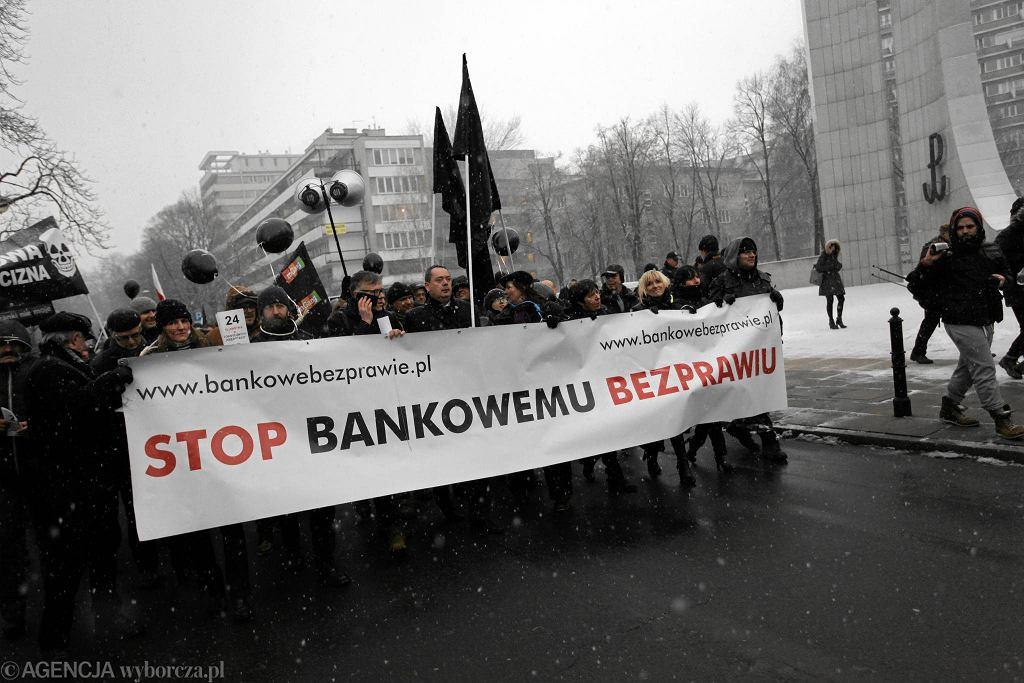 Jedna z demonstracji frankowiczów