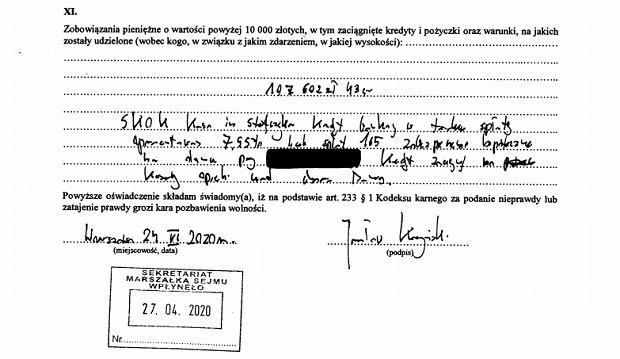 Oświadczenie majątkowe Jarosława Kaczyńskiego