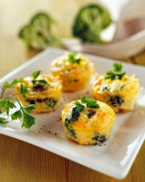Minifrittaty z brokułami