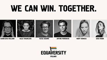 Celem fundacji Equaversity Foundation, której twarzami zostali m.in. Agnieszka Holland, Olga Tokarczuk czy Mary Komasa jest pozyskiwanie za granicą funduszy mających służyć wspieraniu społeczności LGBT+ w Polsce.