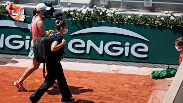 Iga Świątek w meczu z Marią Sakkari w ćwierćfinale Roland Garros 2021