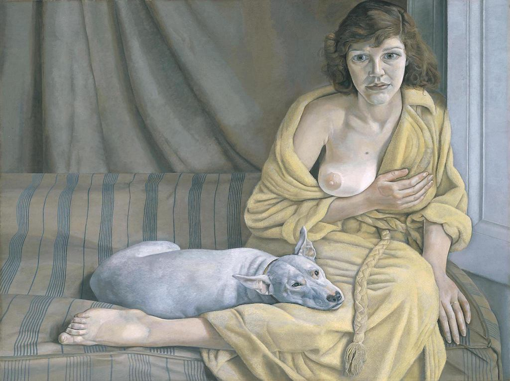 Girl with a White Dog, Lucian Freud  / Tate Britain