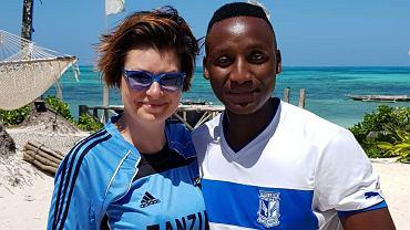 Katarzyna Werner i mieszkaniec Zanzibaru