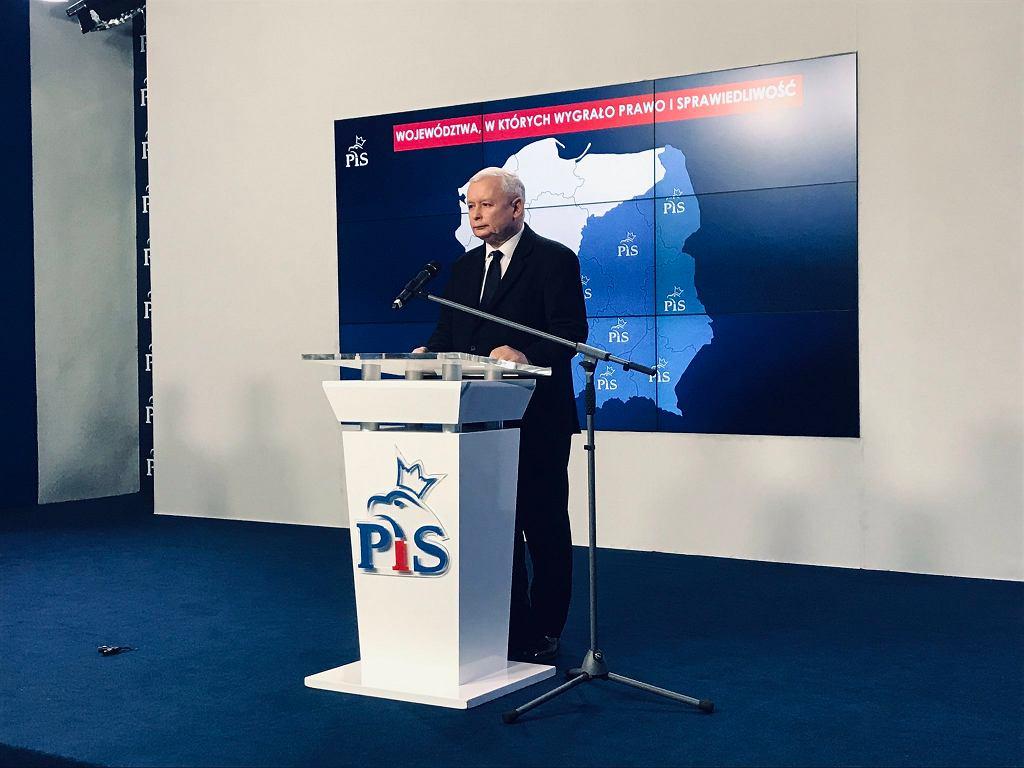 Jarosław Kaczyński podsumował wyniki wyborów samorządowych