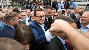 Wybory parlamentarne 2019. Premier Mateusz Morawiecki w Świdniku