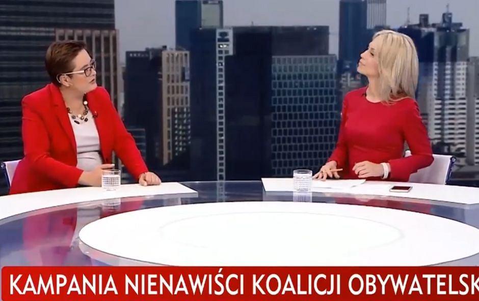 Katarzyna Lubnauer i Magdalena Ogórek / Fot.TVP Info