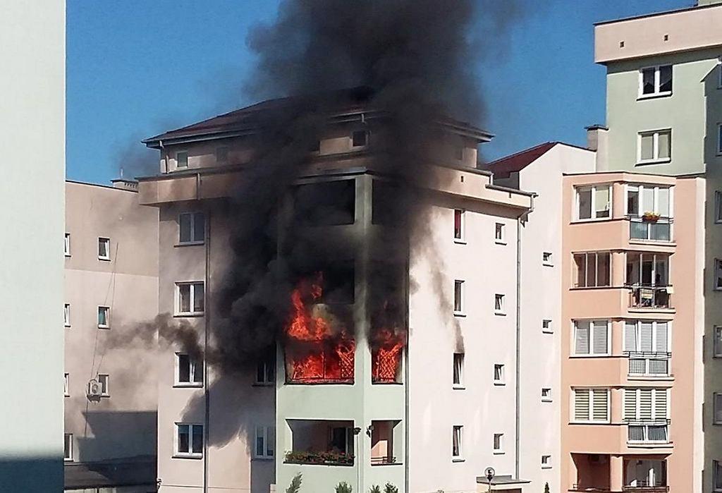 Pożar na Białołece