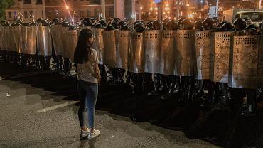 Antyreżimowe pretesty na Białorusi, po sfałszowanych przez Łukaszenkę wyborach prezydenckich. Mińsk, 9 sierpnia 2020