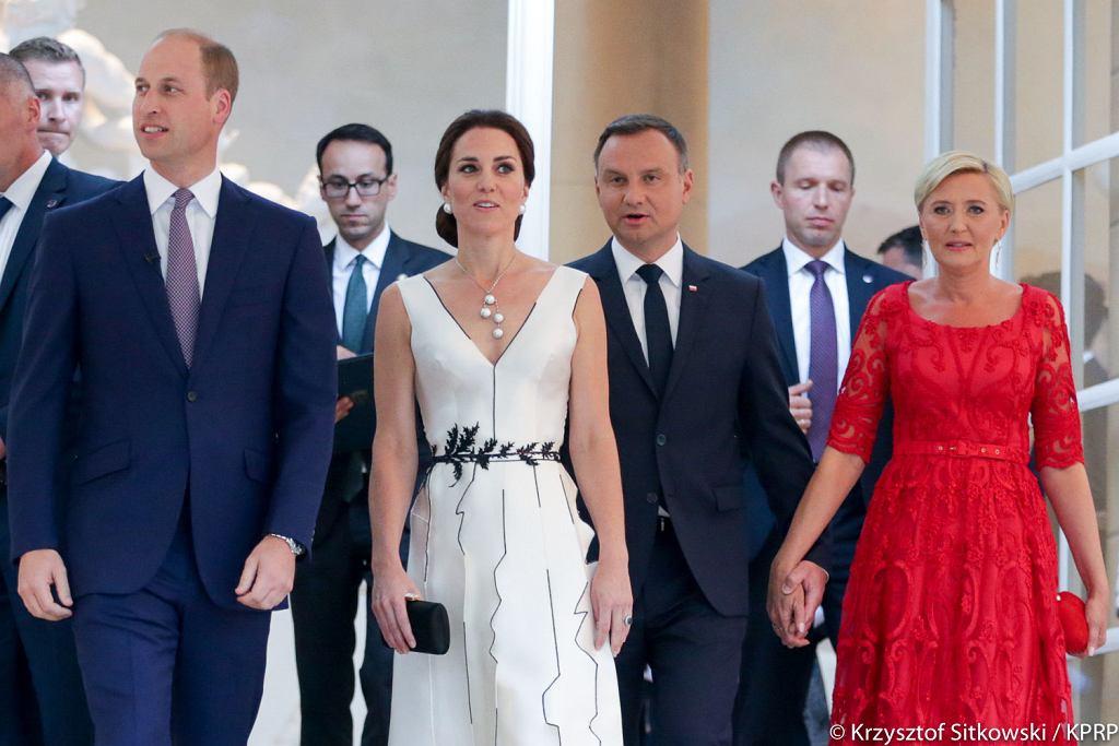 Kate i William w Polsce - spotkanie z parą prezydencka