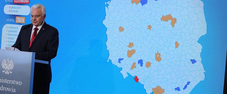 Nowa lista powiatów z dodatkowymi obostrzeniami. Kraska komentuje rekord zakażeń