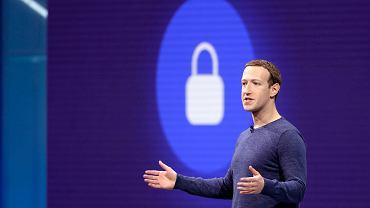 Mark Zuckerberg podczas dorocznej konferencji Facebooka dla programistów