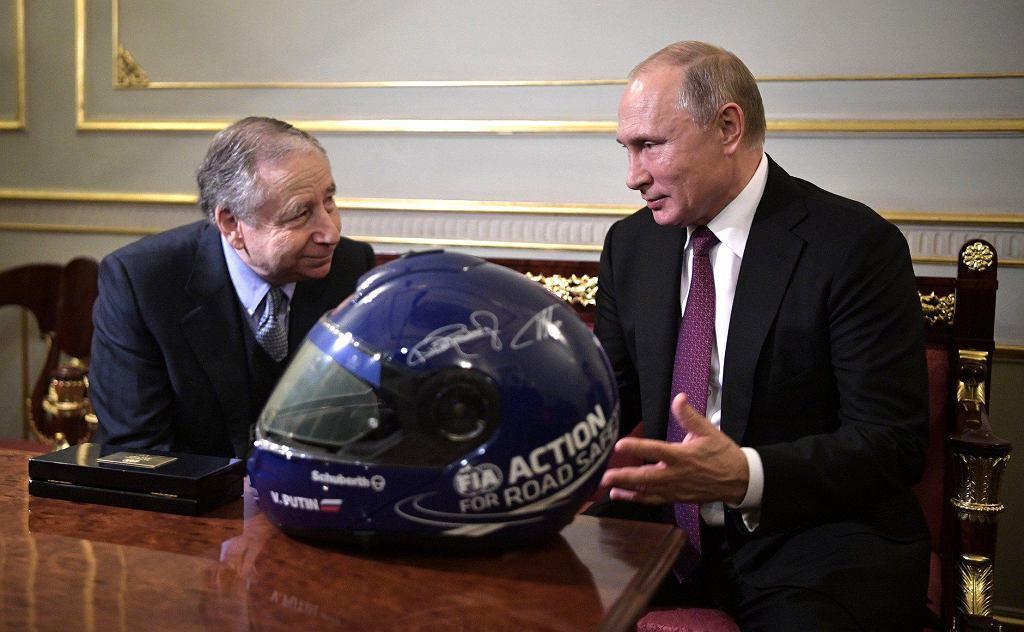 Jean Todt, szef FIA, oraz prezydent Rosji Władimir Putin